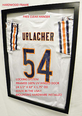 Ultra CLEAR UV Protection Jersey Display Case Frame Football Baseball