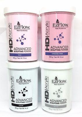 EzFlow HD Acrylic Advanced Sculpting Powder 453g/16oz - Pick Your Color - Ezflow Hd Powder