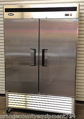 New 2 Door 55 Freezer Solid Stainless Steel Reach In Nsf Atosa Mbf8503gr 1931