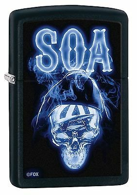 Zippo Windproof Sons Of Anarchy Skull Lighter  Soa  29317  New In Box