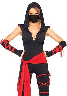 Leg Avenue Women's Deadly Ninja Costume Black and Red - Womens Ninja Kostüm
