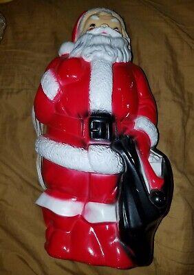 Vintage Empire Blow Mold Santa Claus 1968 Plastic Christmas Decor 12 inch LIGHTS