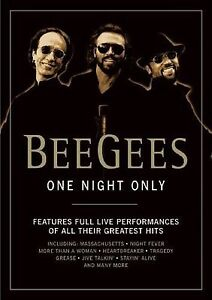 BEE GEES - ONE NIGHT ONLY - FULL LIVE PERFORMANCES OF ALL THE GREATEST HITS  DVD