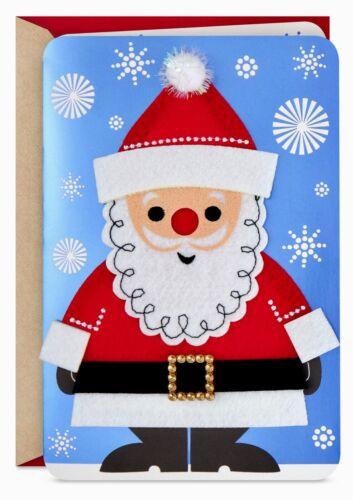 Christmas Cards- Jolly Felt Santa Musical Christmas Card