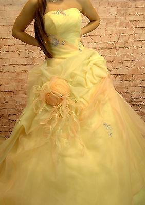 Hochzeitskleid Brautkleid Hochzeit Braut Sissi Sissikleid Größe 36 hauchgelb online kaufen