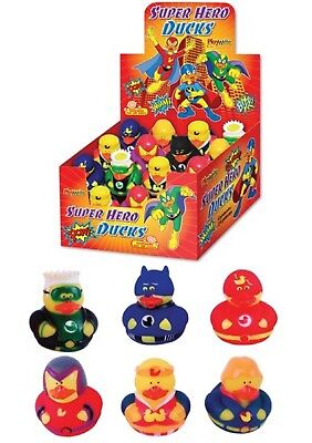 MINI RUBBER DUCK SUPER HERO BATH DUCKS PARTY GIFT BAG NOVELTY TOY 5CM (Superhero Rubber Ducks)