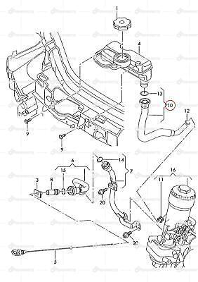 Audi A2 1.4 Oil Filler Pipe 8Z0115302H Brand New Genuine