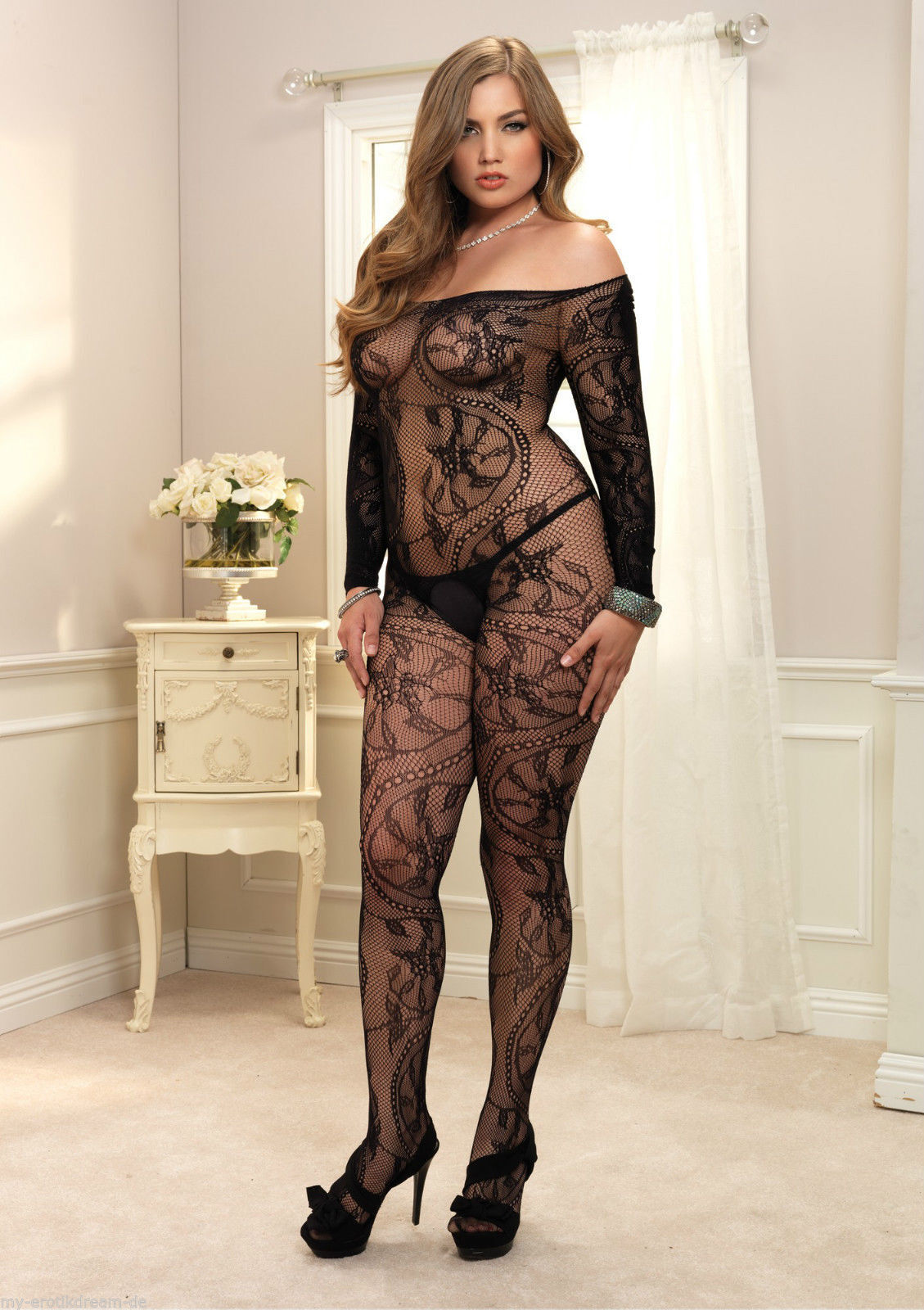 76e49f70f18 Details about SEXY BODYSTOCKING BODYSUIT LINGERIE NIGHTWEAR PLUS SIZE  LINGERIE UK 14-22