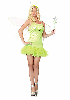 Sexy Halloween Adult Pixie Dust Fairy Tinkerbell Costume w Wand