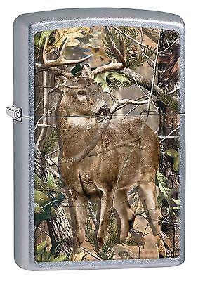 Zippo Windproof Realtree Camo Ligher With Deer - Buck, 29310, New In Box