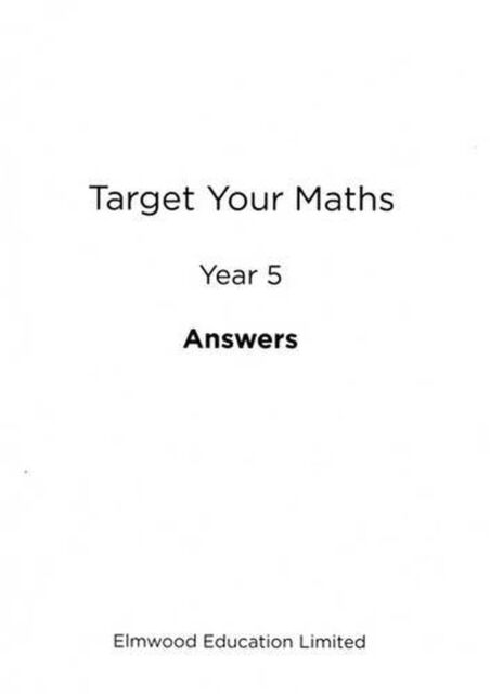 Target Your Maths Year 5 Answer Book: Year 5