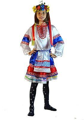 Ukrainian Girls Carnival Costume Traditional Folk Head Wreath Sarafan