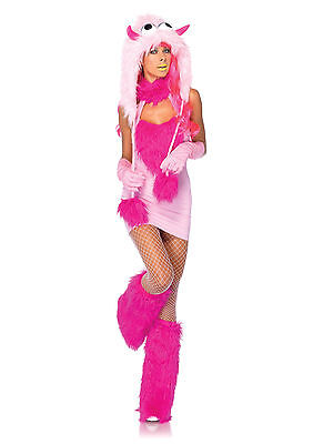 Ladies Monster Costume (Adult Sexy Pink Puff Monster Costume)