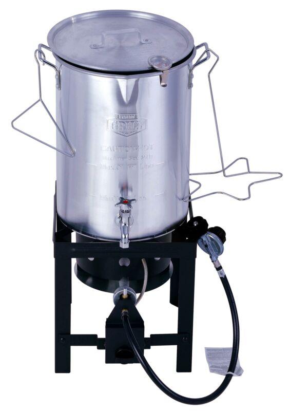 NEW Expert Grill 30 Quart Propane Gas Turkey Fryer with Spig