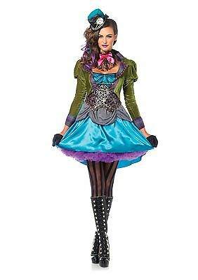 Deluxe Mad Hatter Alice In Wonderland Adult Women Costume