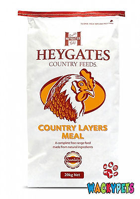 CHICKEN LAYERS MEAL Heygates Country 20kg For Laying Chickens / Poultry (HEY020)