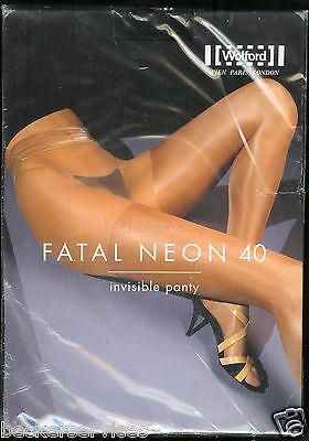 ecddc286c4311 Wolford Fatal Neon Glanz 40 Tights Strumpfhose sheer Pantyhose Stay-up  Effekt фото