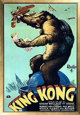 MAGNET Vintage Movie Poster KING KONG 1933 Fay Wray Bruce Cabot Free Shipping
