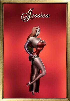 MAGNET Disney Character JESSICA RABBIT Red Dress  Photo Magnet (Jessica Rabbit Red Dress)