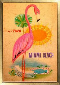 Fly Twa Miami Beach Poster