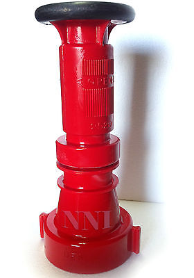 2-12 Nst Fire Hose Combination Fog Nozzle 150gpm Red Polycarbonate