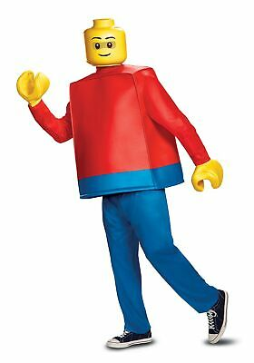 Deluxe LEGO Adult Lego Guy Costume - Adult Lego Costume