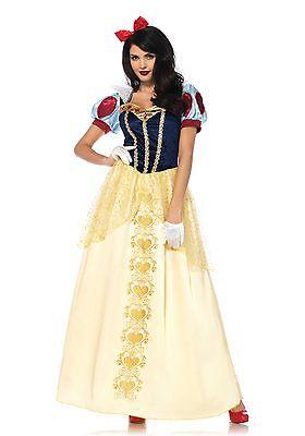 LAG Leg Avenue 85573 Deluxe Snow White Schneewittchen Damen Kostüm S - - Damen Schneewittchen Kostüm Deluxe