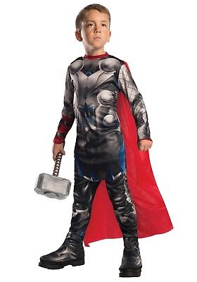 Thor Marvel Avengers Deluxe Costume Size Large L for 8 - 10 - Thor Deluxe Costume