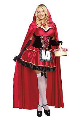 Dreamgirl Rotkäppchen Erwachsene Damen Halloween Kostüm Übergröße - Übergröße Rotkäppchen Kostüm