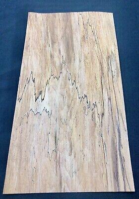 Spalted Maple Wood Veneer 5 Sheets 14.5 X 7.5 3.5 Sq Ft