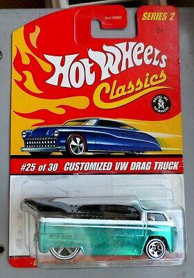 SUPER-RARE ORIGINAL 2005 CLASSICS SERIES HOT WHEELS VW DRAG TRUCK - GREEN