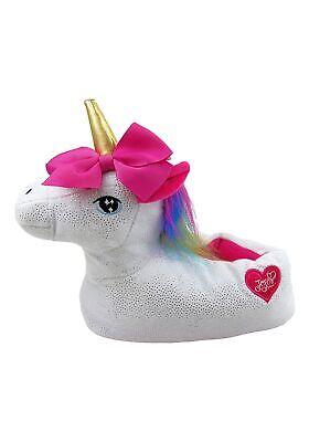 Girls White Slippers (Girls Jojo Siwa Unicorn)