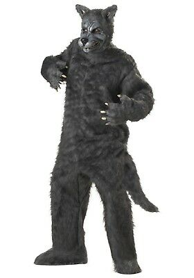 PLUS SIZE BIG BAD WOLF ANIMAL JUMPSUIT COSTUME (w/defect) (Plus Size Big Bad Wolf Costume)