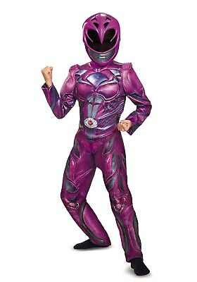 NEW NWT Costume GIRLS MUSCLE Chest POWER RANGERS PINK Size LARGE 10-12