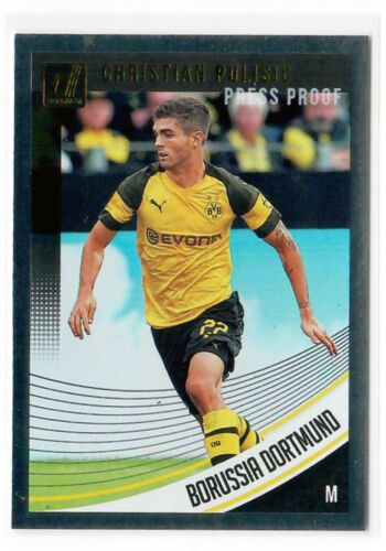 Panini Donruss Soccer 18//19 Rated Rookie Press proof red Bruun larsen Dortmund