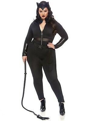 Plus Size Catwoman (Women's Plus Size Sultry Catwoman Supervillain Costume SIZE 3X/4X (with)