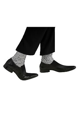 Rubies Adult Michael Jackson Sparkle Socks Costume Accessory (Silver, One Size)](Michael Jackson Sparkle Socks)