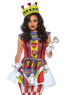 Leg Avenue 86722 Card Queen Dress Kleid Karte - Queen Karte Kostüm