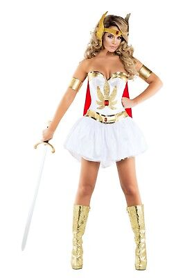WOMEN'S SEXY POWER PRINCESS SHE RA COSTUME SIZE MEDIUM (with defect)