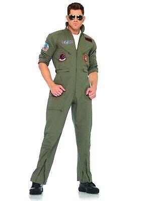 Men's Top Gun Flight Suit Halloween Costume Size M 34-36 Adult