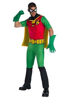 Men's Teen Titans Robin Superhero Costume Size Standard Batman - Teen Titan Robin Costume