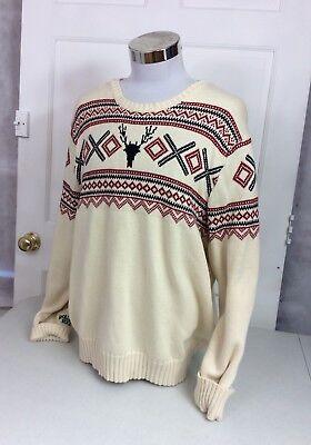 American Living Nordic Sweater Cotton Crewneck Men S Xxl
