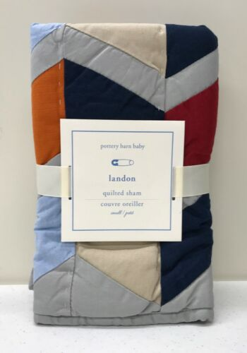 NEW Pottery Barn KIDS Landon Small Quilted Sham~Toddler Crib Bedding