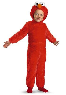 Sesame Street Elmo Comfy Fur Toddler/Child Halloween Dress Up Costume 3T-4T - Sesame Street Halloween