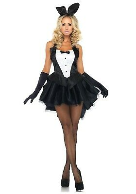 WOMEN'S TUX AND TAILS PLAYBOY BUNNY COSTUME SIZE XS (with