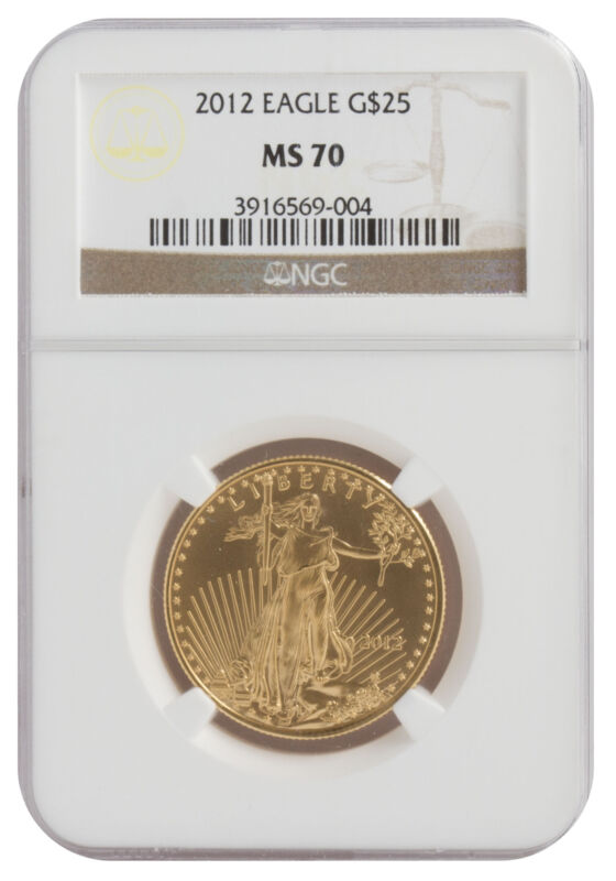 Lot of 2 - $25 1/2oz American Gold Eagle MS70 - PCGS or NGC (Random Date)