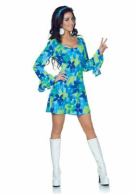 70s Plus Size Costume (Plus Size Wild Flower 70s Retro Dress)