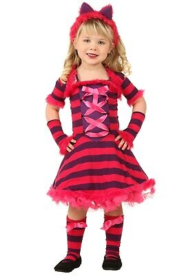 TODDLER STORYBOOK CHESHIRE CAT COSTUME SIZE 4T (Alice in Wonderland) (Toddler Cheshire Cat Costume)