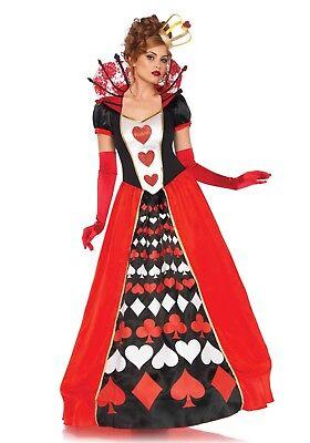 Herzkönigin Deluxe Queen of Hearts Fasching Damen Kostüm  (Queen Of Hearts Deluxe Kostüm)