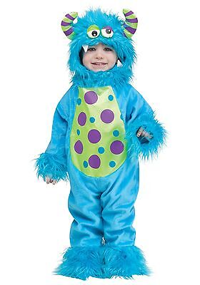Childs Lil Blue Monster Haloween Costume Toddler Up To 24 Months P10770](Kids Haloween Costume)